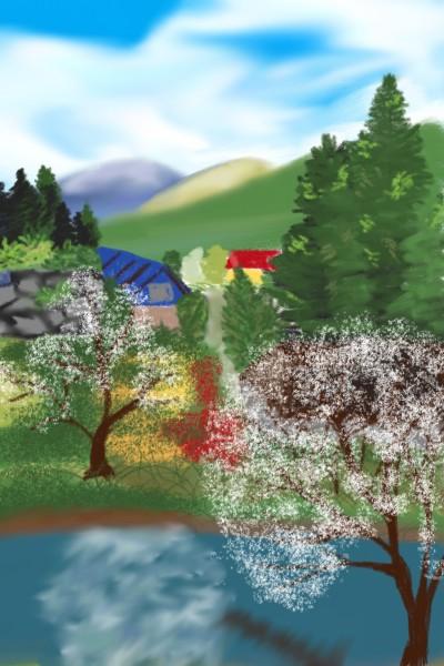 시골풍경 painting practice    youngsook   Digital Drawing   PENUP