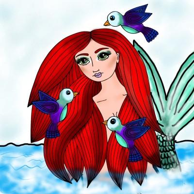 Mermaid | Mia | Digital Drawing | PENUP