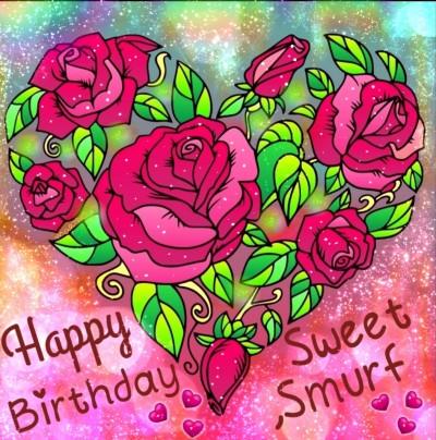 Happy Birthday my sweet smurf ♡   _Marta_   Digital Drawing   PENUP