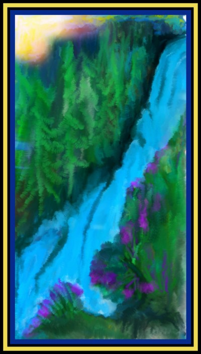 Water Fall River by K.E.R Challenge April2020 | katherineeroach | Digital Drawing | PENUP