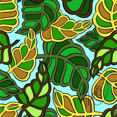 ลายพิมษ์ใบไม้ | NuKrit | Digital Drawing | PENUP