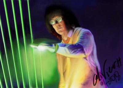 JMJ laser harpe | artgraphit | Digital Drawing | PENUP