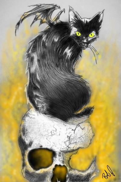 scary cat   nyyankeehitman   Digital Drawing   PENUP