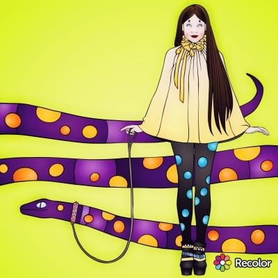 woman and snek | Zenovia | Digital Drawing | PENUP