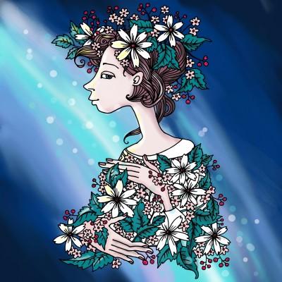 Lady Spring | Lau | Digital Drawing | PENUP