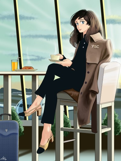 Airport Coffee. | Lucs | Digital Drawing | PENUP