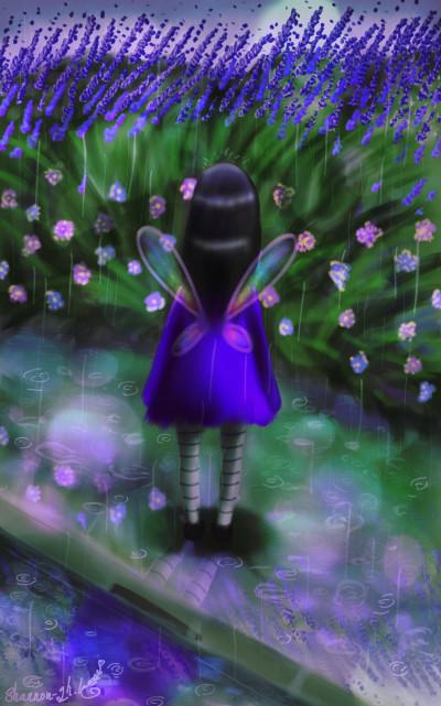 Rain and Lavenders | Ghazal | Digital Drawing | PENUP