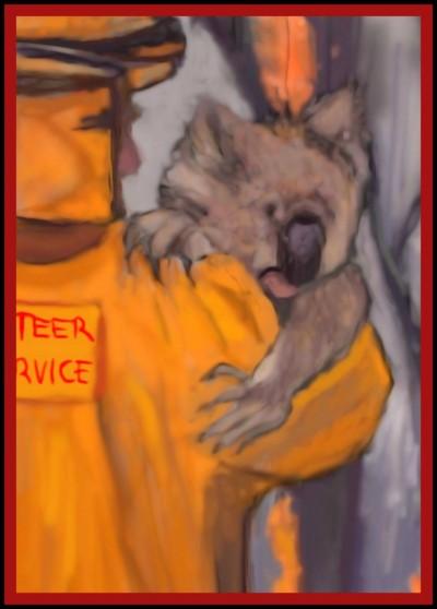 Koala Bear saved from Fires by K.E. R,  | katherineeroach | Digital Drawing | PENUP