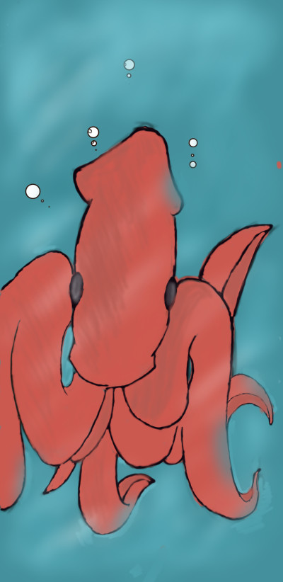 Humboldt squid | SoloSketch | Digital Drawing | PENUP