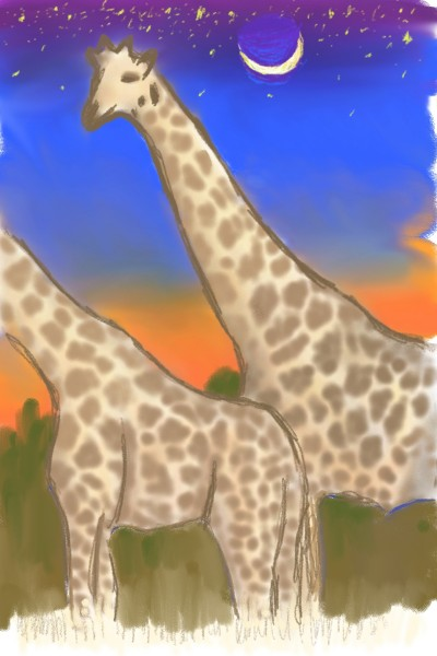 Giraffe Night | dmhljackson | Digital Drawing | PENUP