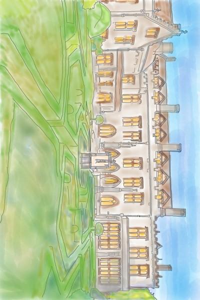 Newstead Abbey Nottingham | StevenCarroll | Digital Drawing | PENUP
