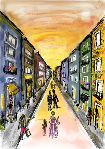 In a street | lopz | Digital Drawing | PENUP