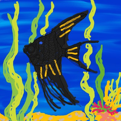 One Fish Swims Alone | Anevans2 | Digital Drawing | PENUP