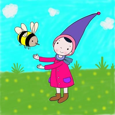 Bee & Boy | sri9489 | Digital Drawing | PENUP