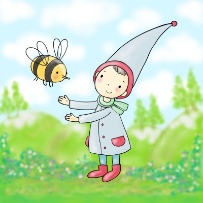 Sweet Gnome and Bee | danichristine | Digital Drawing | PENUP