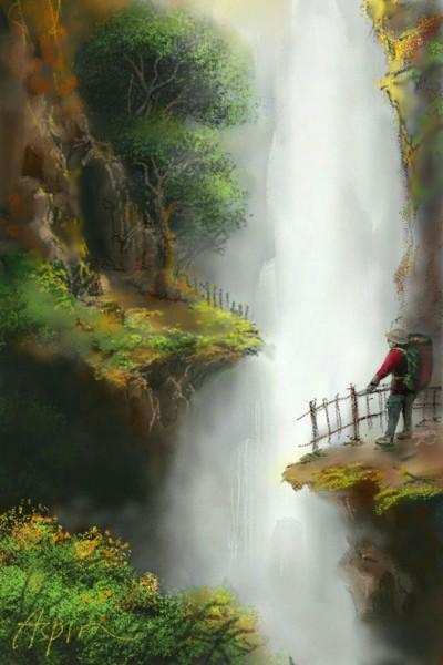 Waterfall | Aspin | Digital Drawing | PENUP