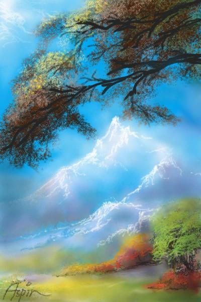 Pemandangan Alam | Aspin | Digital Drawing | PENUP