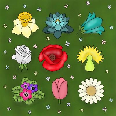 field of flowers   Zenovia   Digital Drawing   PENUP