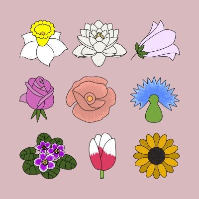 Nine Flowers    Trish   Digital Drawing   PENUP