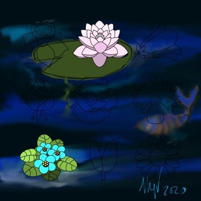Estanque azul   bosx36   Digital Drawing   PENUP