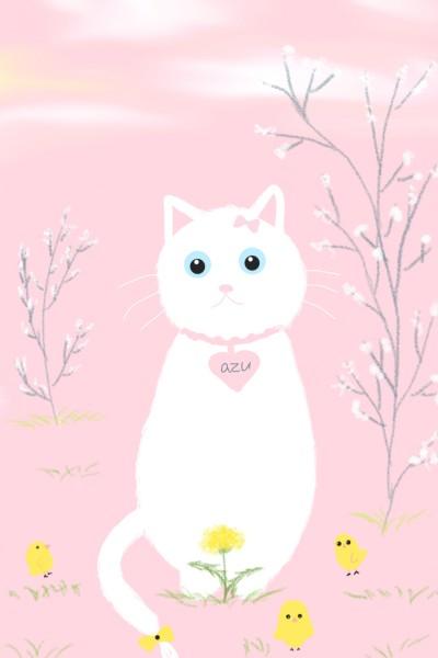 7. 병아리와 야옹이 (Chick and cat) | youngsook | Digital Drawing | PENUP