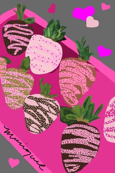 Chocolate- Strawberries   monique   Digital Drawing   PENUP