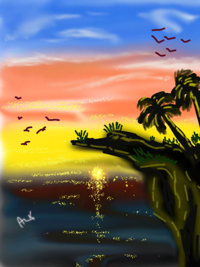 evening is good | AZR | Digital Drawing | PENUP