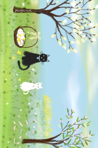 """8.병아리와 야옹이 2 Chick and cat """"A chick hatch""""   youngsook   Digital Drawing   PENUP"""