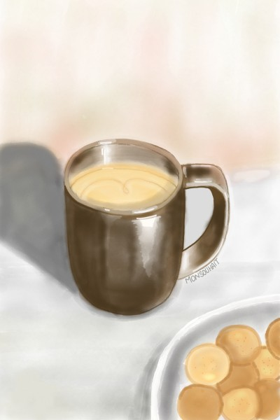 Coffee time | MonSouhait | Digital Drawing | PENUP