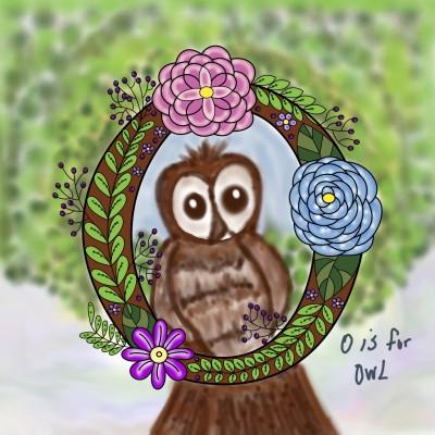 O is for owl | kajunlynn | Digital Drawing | PENUP