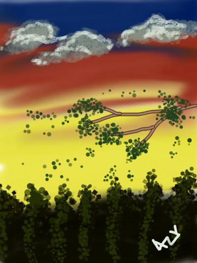 scenery  | AZR | Digital Drawing | PENUP