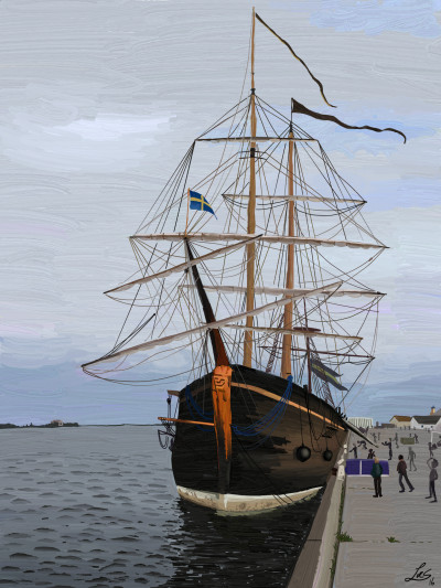 Swedish ship | Lucs | Digital Drawing | PENUP