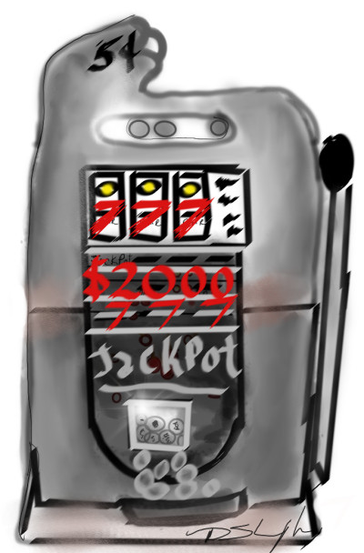 vintage slot  machine | Bluzie | Digital Drawing | PENUP