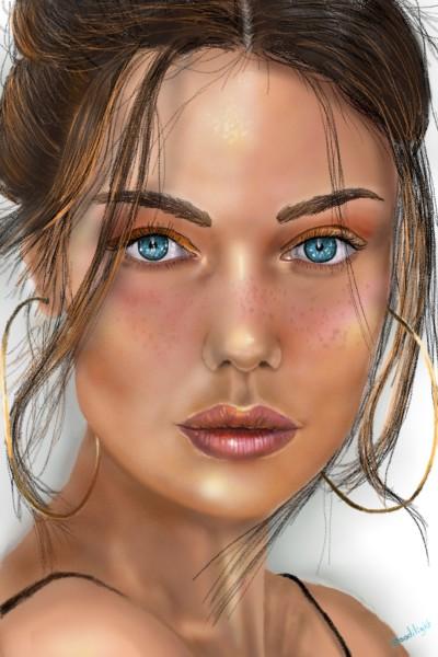 femmes avec créoles | Doodilight | Digital Drawing | PENUP