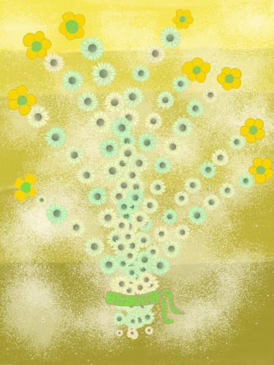 yellow flowers   gefer   Digital Drawing   PENUP