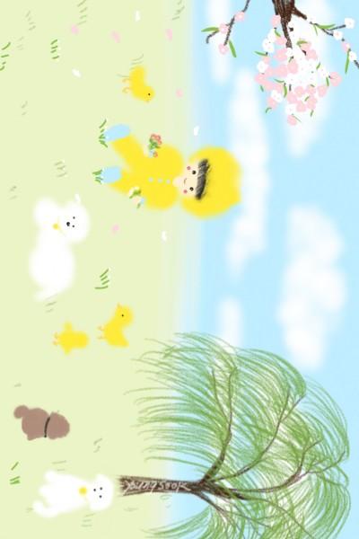 아가와 병아리의 봄나드리 | youngsook | Digital Drawing | PENUP