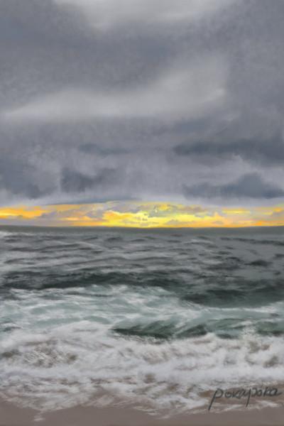 The beach I often go to (My romance here)  | pokapoka | Digital Drawing | PENUP