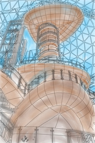 The Dome at Victoria Square, Belfast | StevenCarroll | Digital Drawing | PENUP