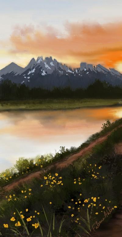 sunset  | FatemaMusharrof | Digital Drawing | PENUP