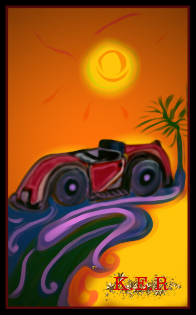 My Car at Sunset by K.E.R | katherineeroach | Digital Drawing | PENUP