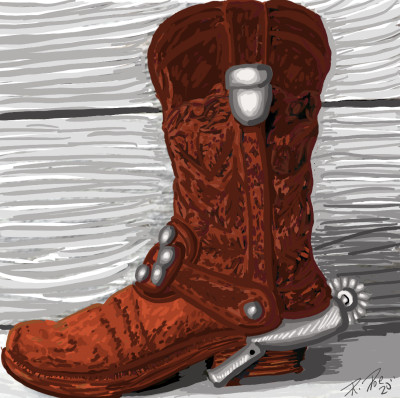 Brown boot with spur | Beckah | Digital Drawing | PENUP