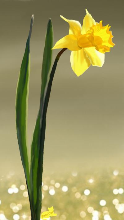 Daffodil | Babycat5 | Digital Drawing | PENUP