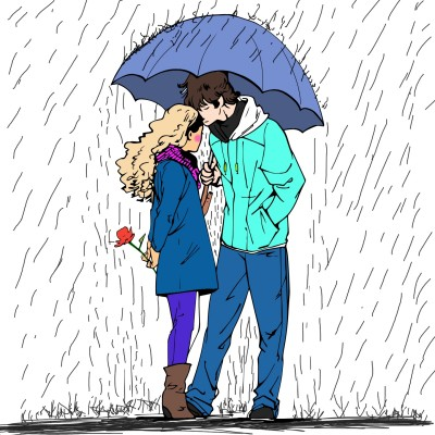 Rainy day in love | ArnoldKokonya | Digital Drawing | PENUP