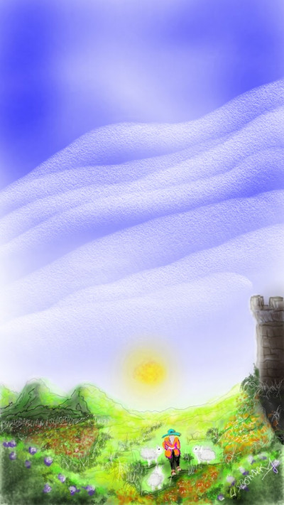 Landscape Digital Drawing | 1LISBONAK | PENUP
