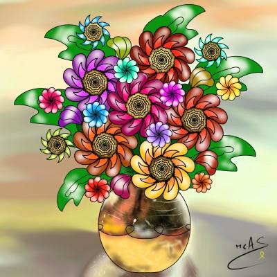 Gerro de flors  | Carme | Digital Drawing | PENUP