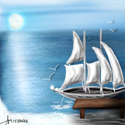 Travel Digital Drawing | 1LISBONAK | PENUP