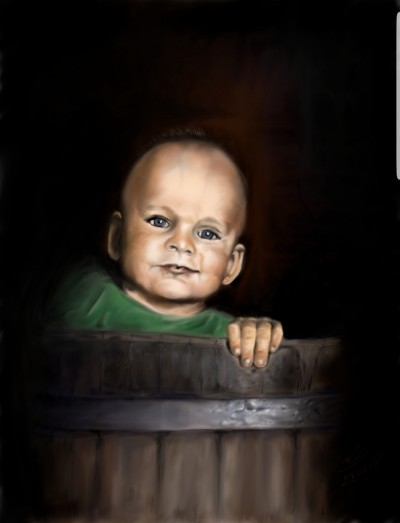 portret w beczce | bialykruk | Digital Drawing | PENUP