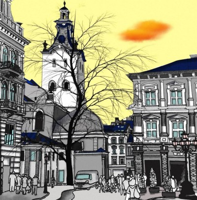 Cityscape | deser | Digital Drawing | PENUP