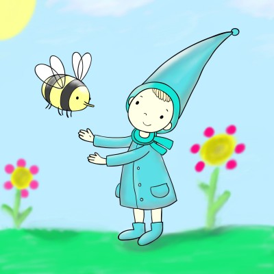Child with Bee | lisa | Digital Drawing | PENUP