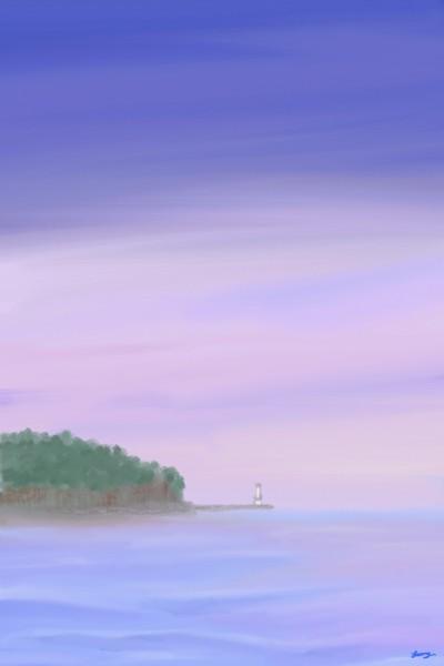전북 부안 채석강을 바라보며 | sunny | Digital Drawing | PENUP